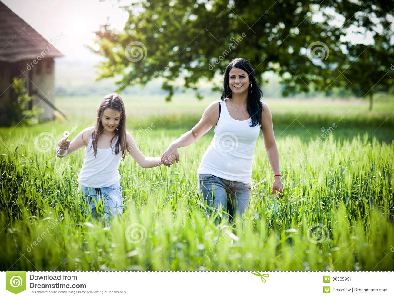 Mother and Daughter at Park