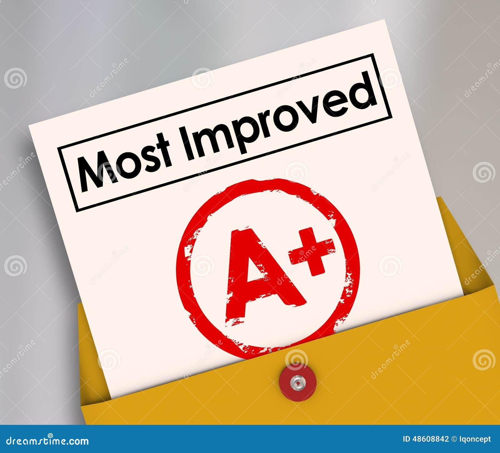 La maggior parte del aumento migliore del punteggio del grado della pagella risulta meglio