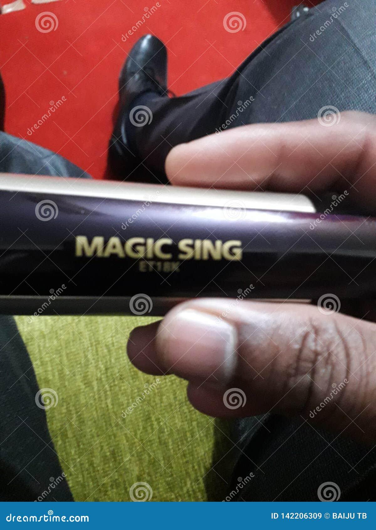 La magie chantent le karoke pour le chant