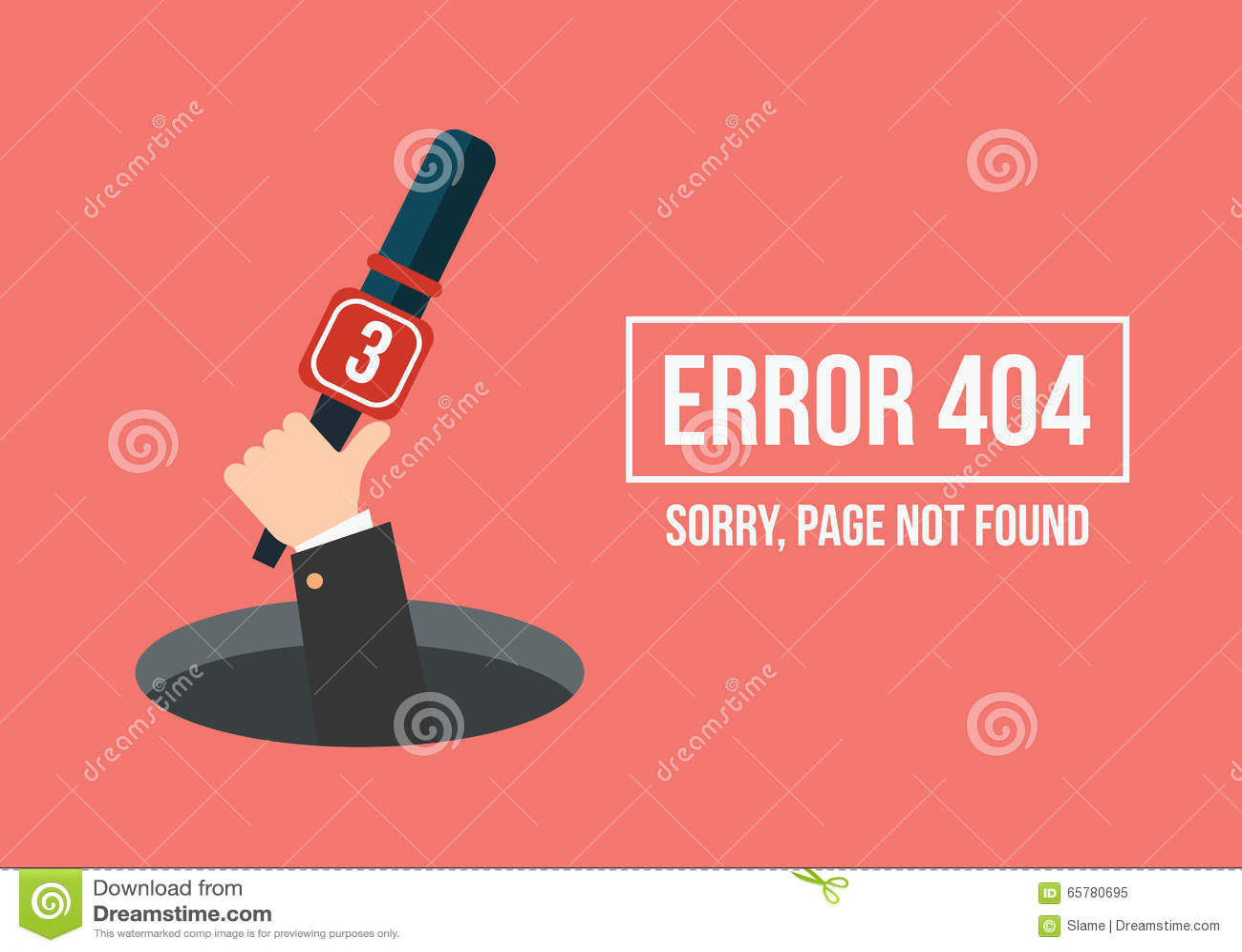 La main humaine montre du trou un message au sujet d erreur non trouvée de page