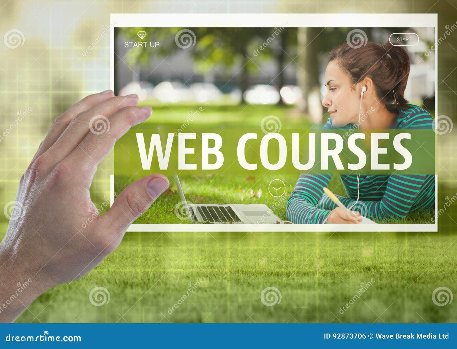 La main touchant un Web chasse l interface d APP