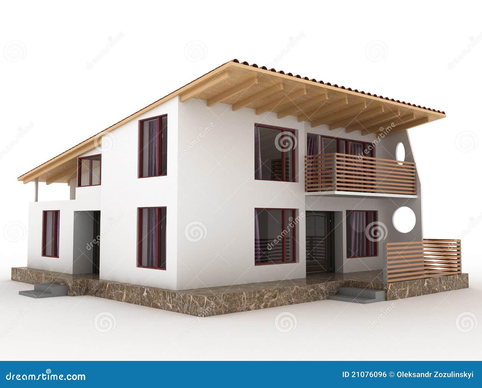 la maison avec le toit en pente 2 image libre de droits image 21076096. Black Bedroom Furniture Sets. Home Design Ideas
