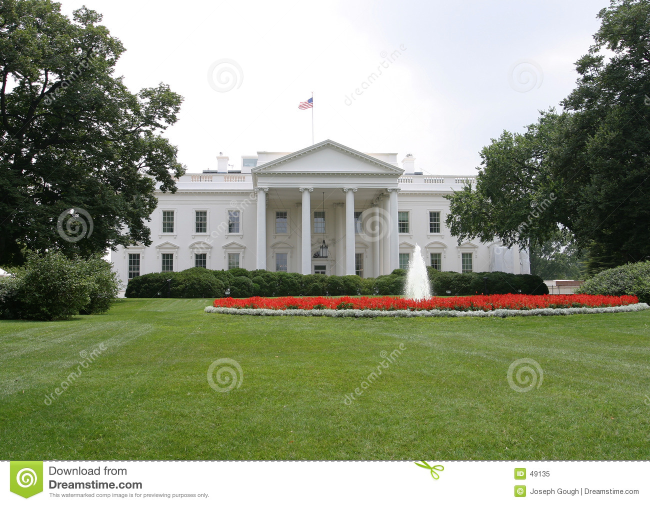 La maison blanche avant washington