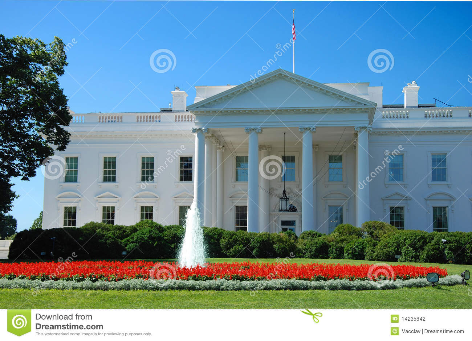 La maison blanche dans le washington dc photo stock for Architecture de la maison blanche
