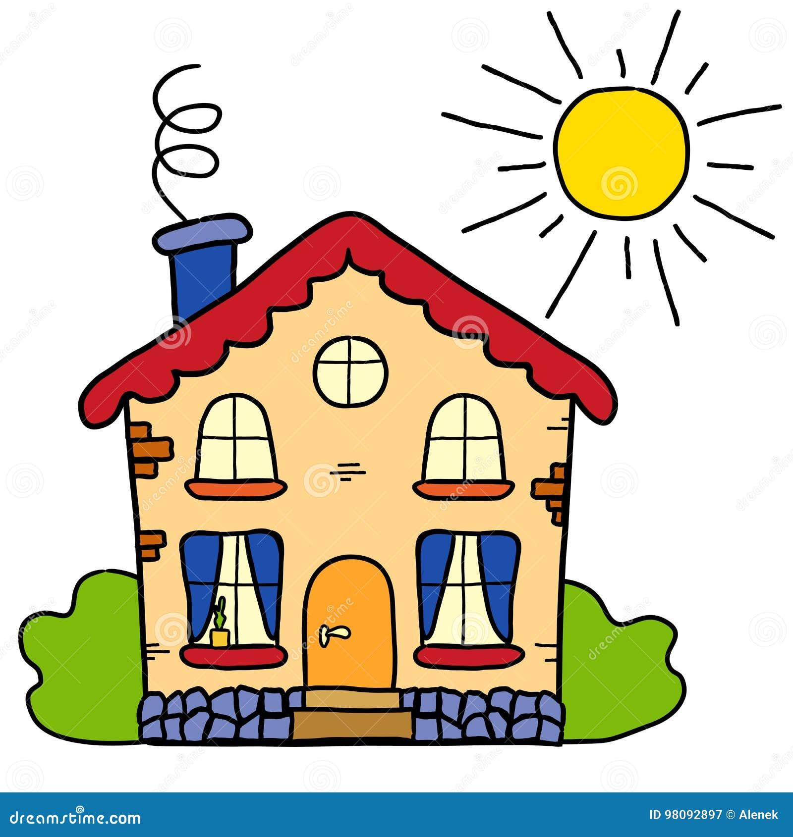 La maison de campagne faite main d été de dessin