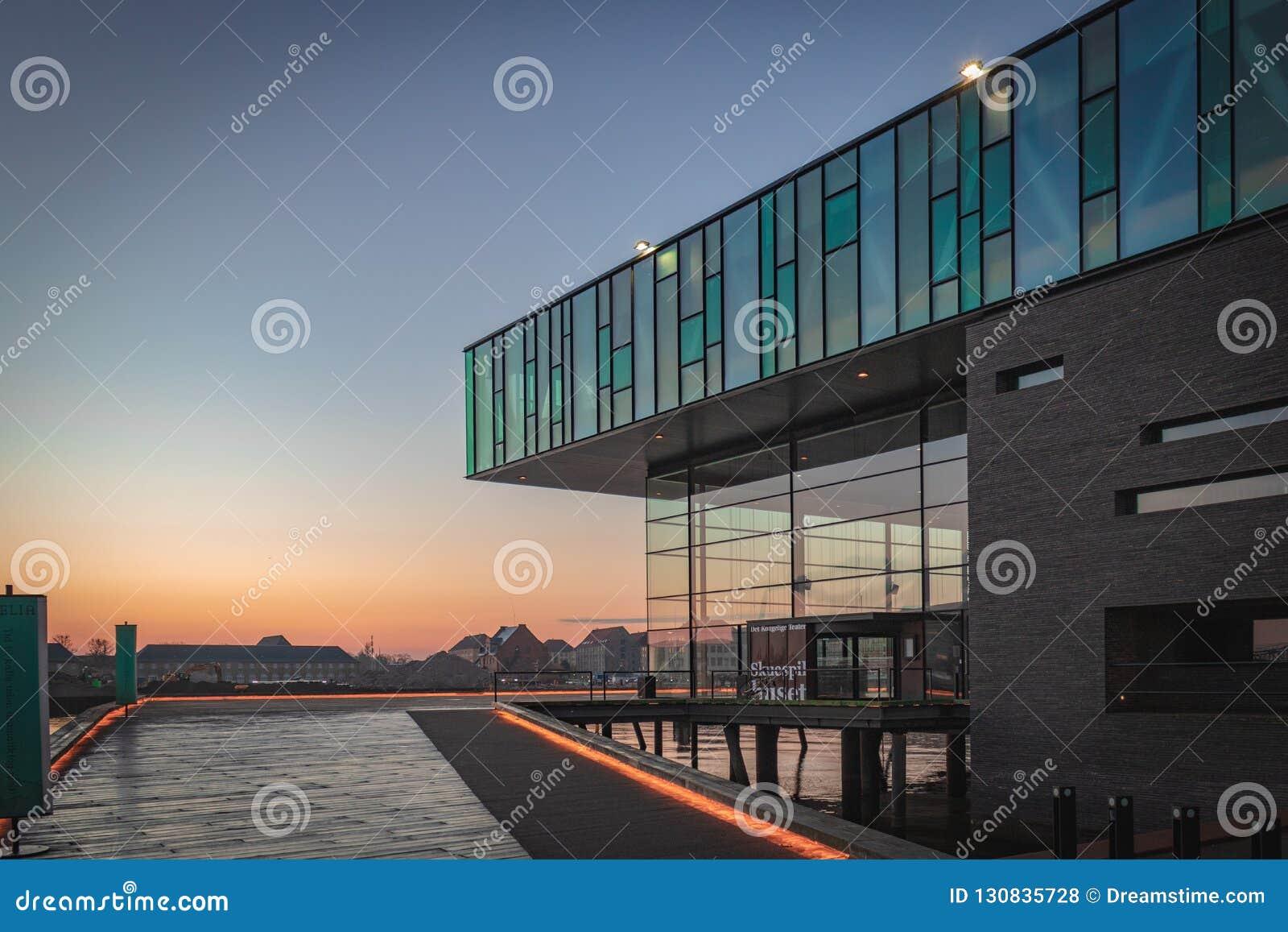 La maison de théâtre danoise royale à Copenhague