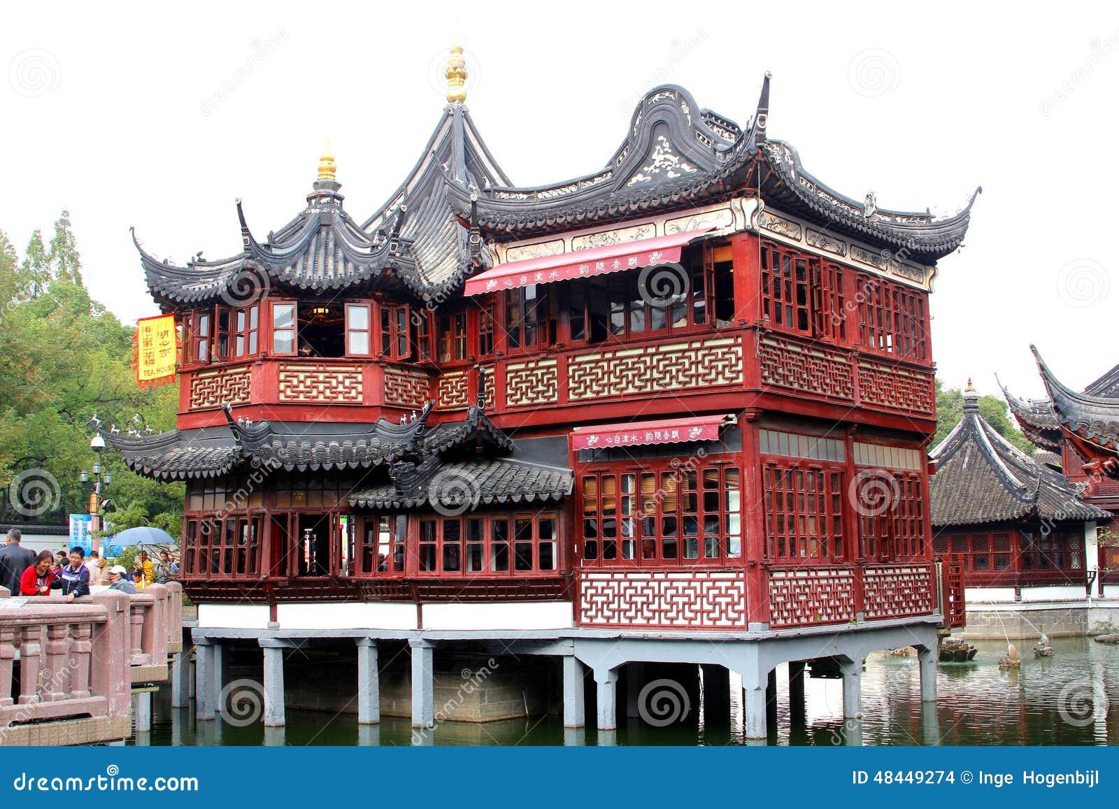 La maison de th de huxinting la maison de th la plus ancienne de changha chine image stock - Maison de la chine boutique ...