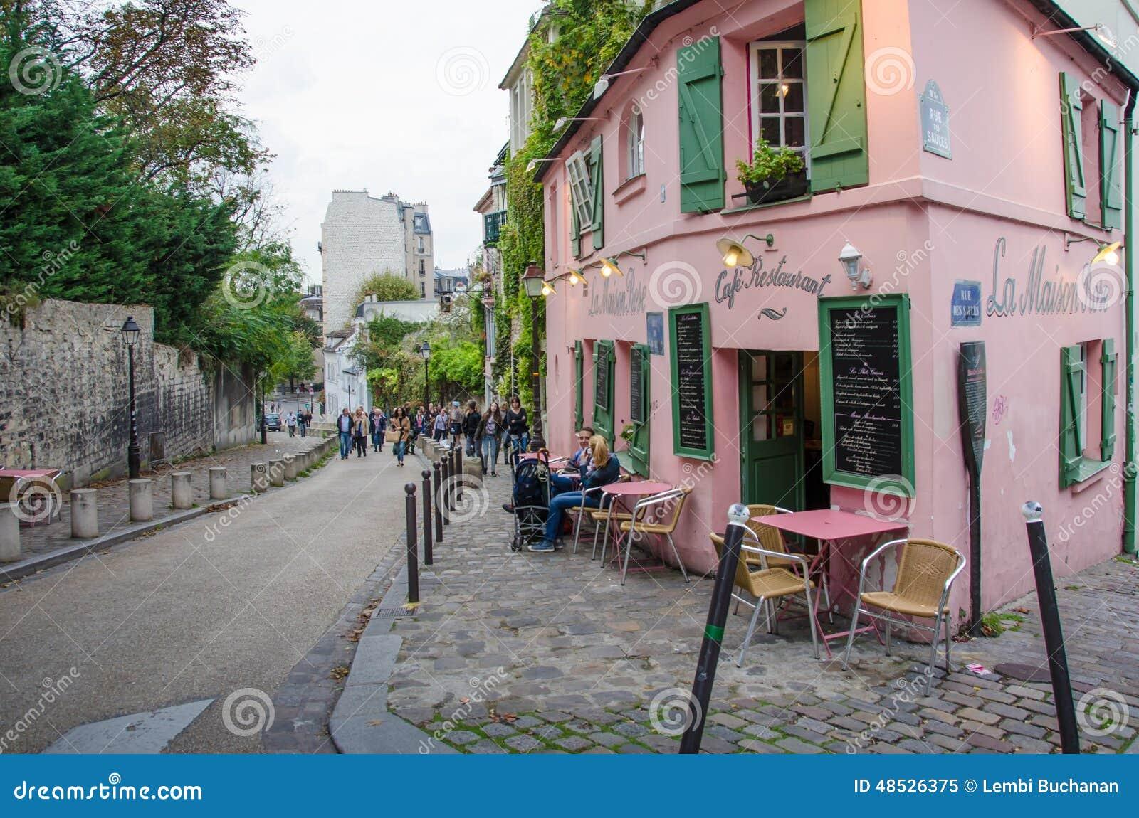 La maison rose restaurant paris image ditorial image for A la maison restaurant