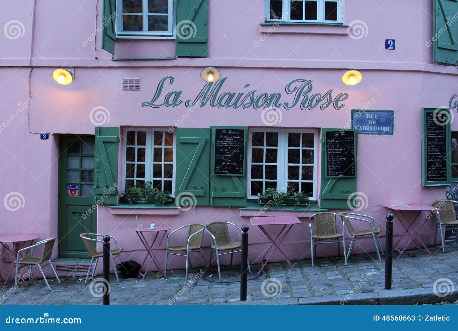 La maison rose restaurant on montmartre in paris editorial stock photo image 48560663 - La maison paris 17 ...