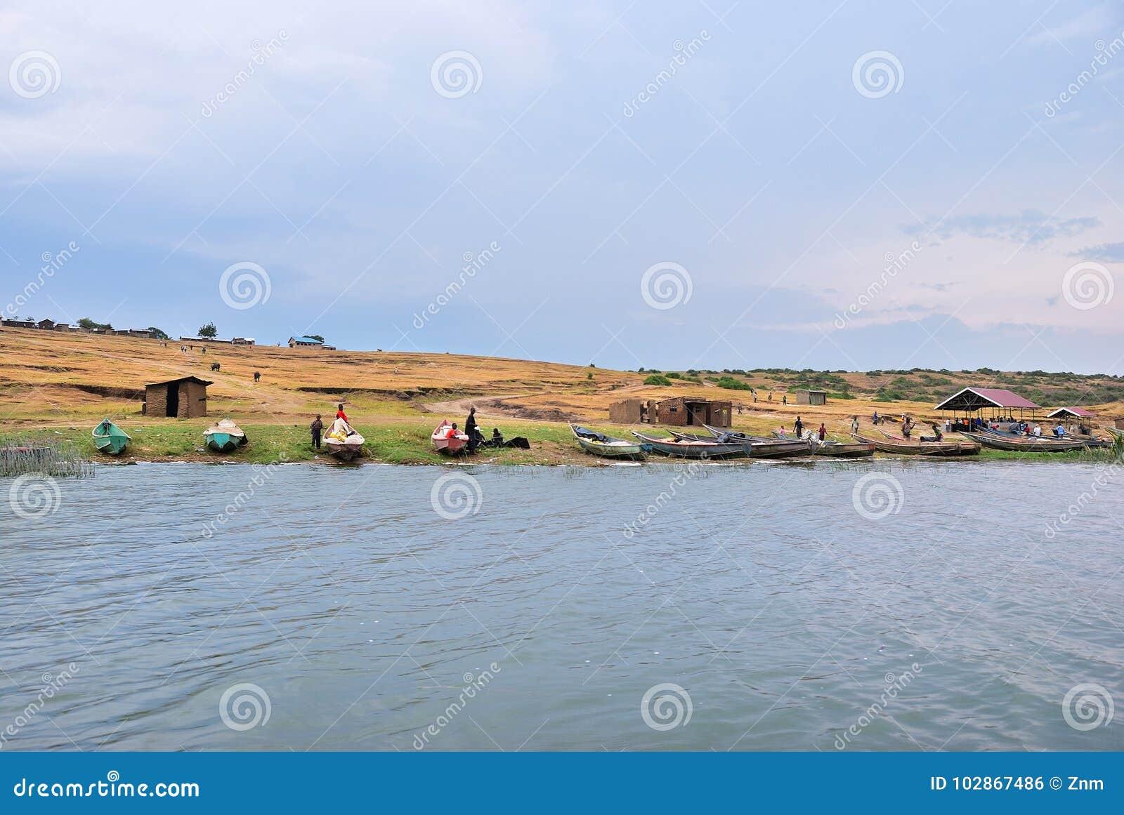 La Manche de Kazinga, la Reine Elizabeth National Park, Ouganda