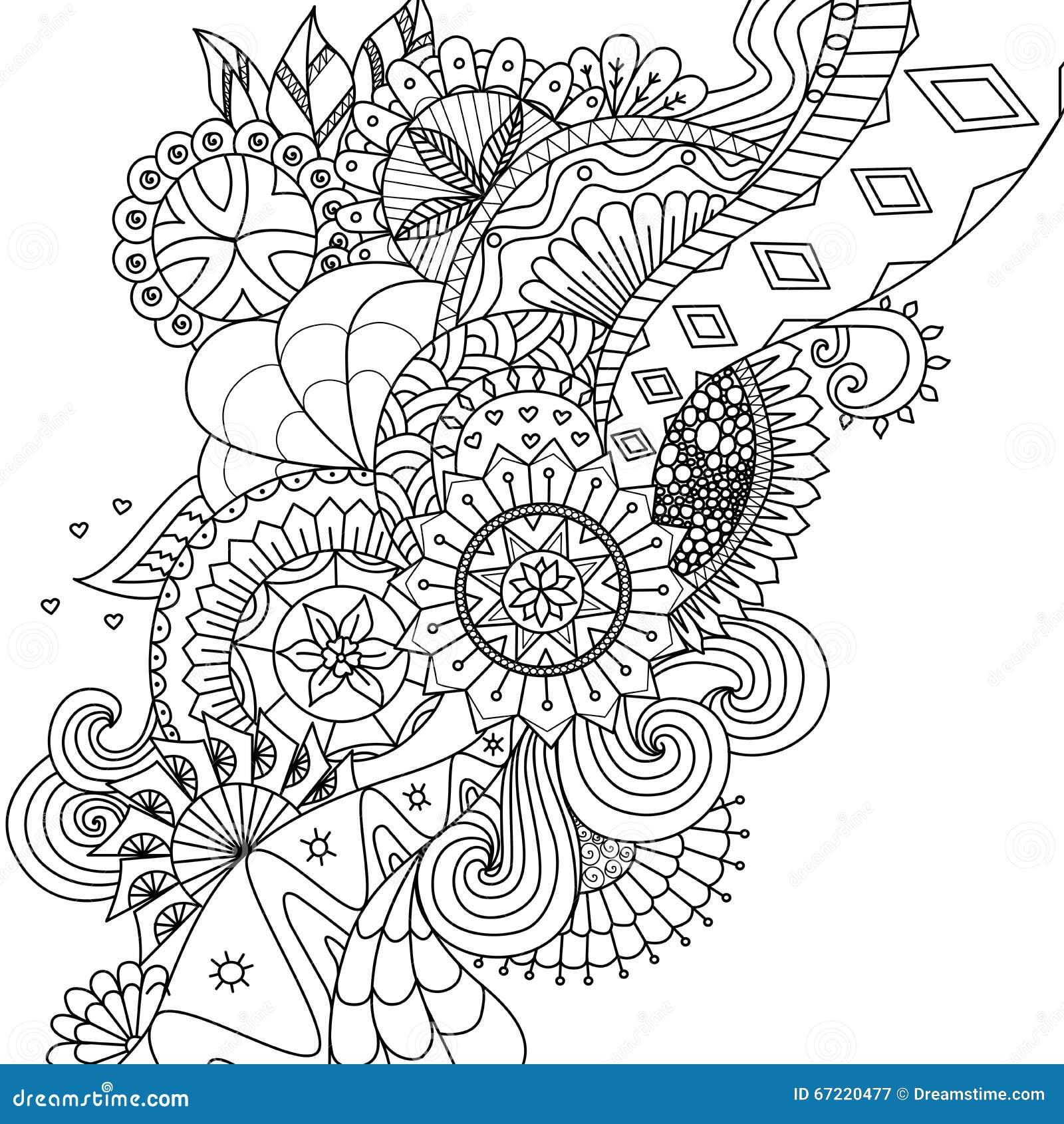 La Mandala Fiorisce Per Il Libro Da Colorare Per Gli Adulti O Il