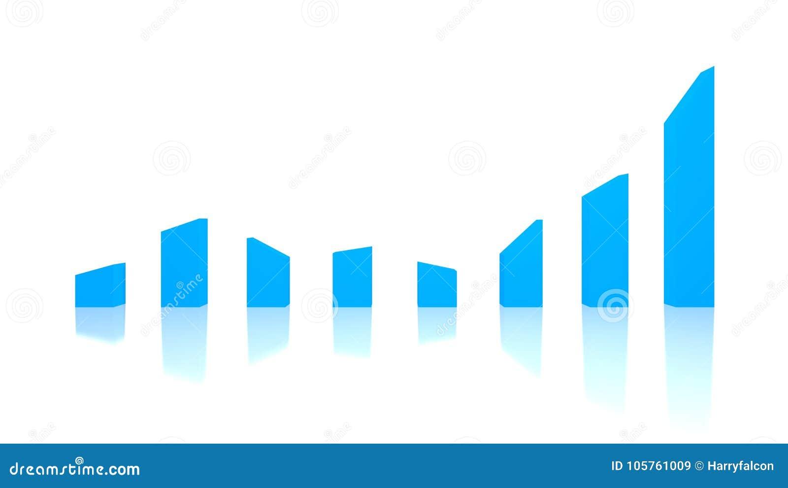 La manifestazione turbolenta del grafico aumenta e cadute, depressioni e picchi 2