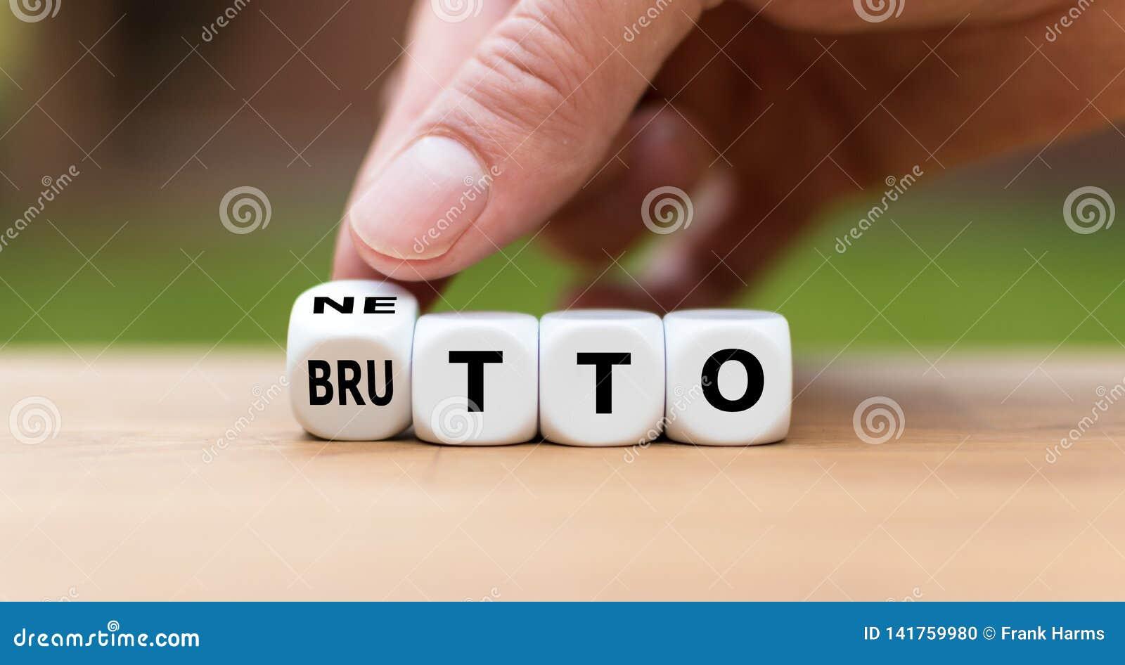 La mano da vuelta a un dado y cambia la palabra 'DELANTERO 'POSTERIOR ''