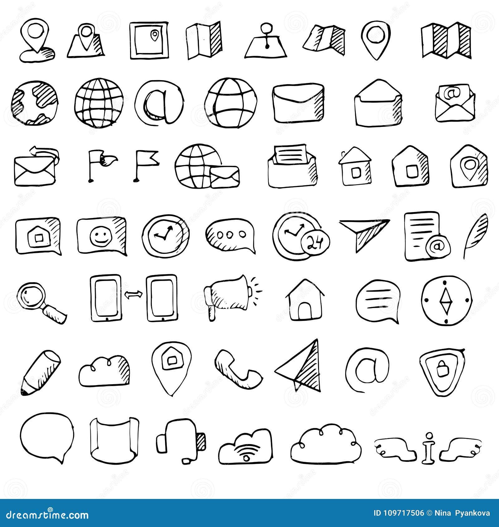 La mano dibujada entra en contacto con el sistema del icono