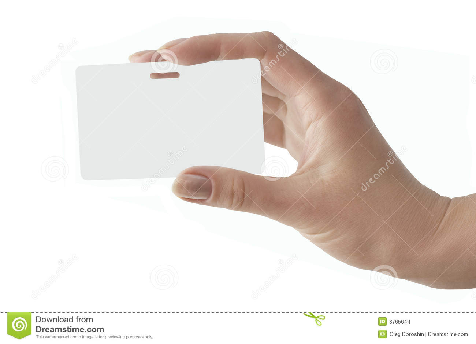 La mano tiene un distintivo bianco