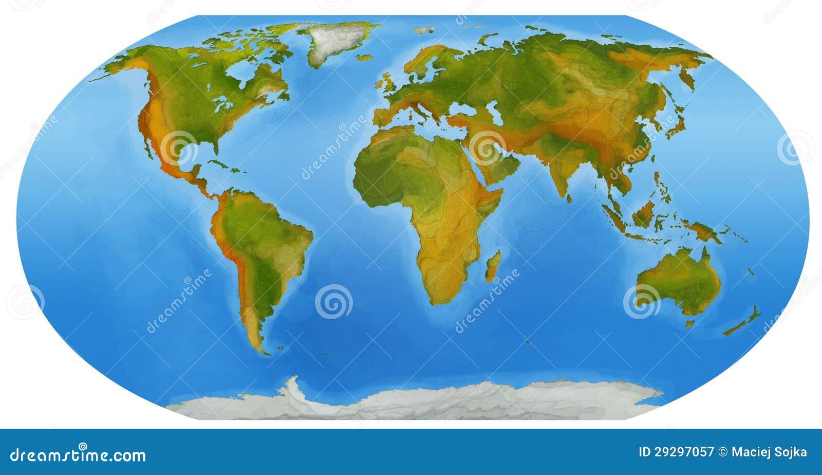 la mappa del mondo illustrazione per i bambini