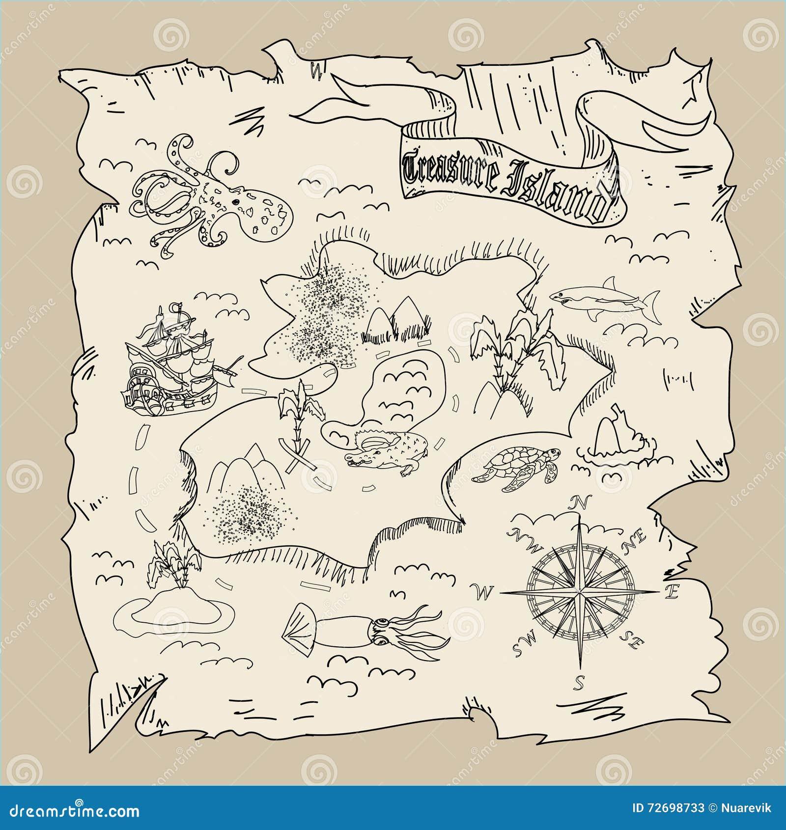 La mappa dell 39 isola del tesoro scherza la pagina di - Ci mappa da colorare pagina di mappa ...