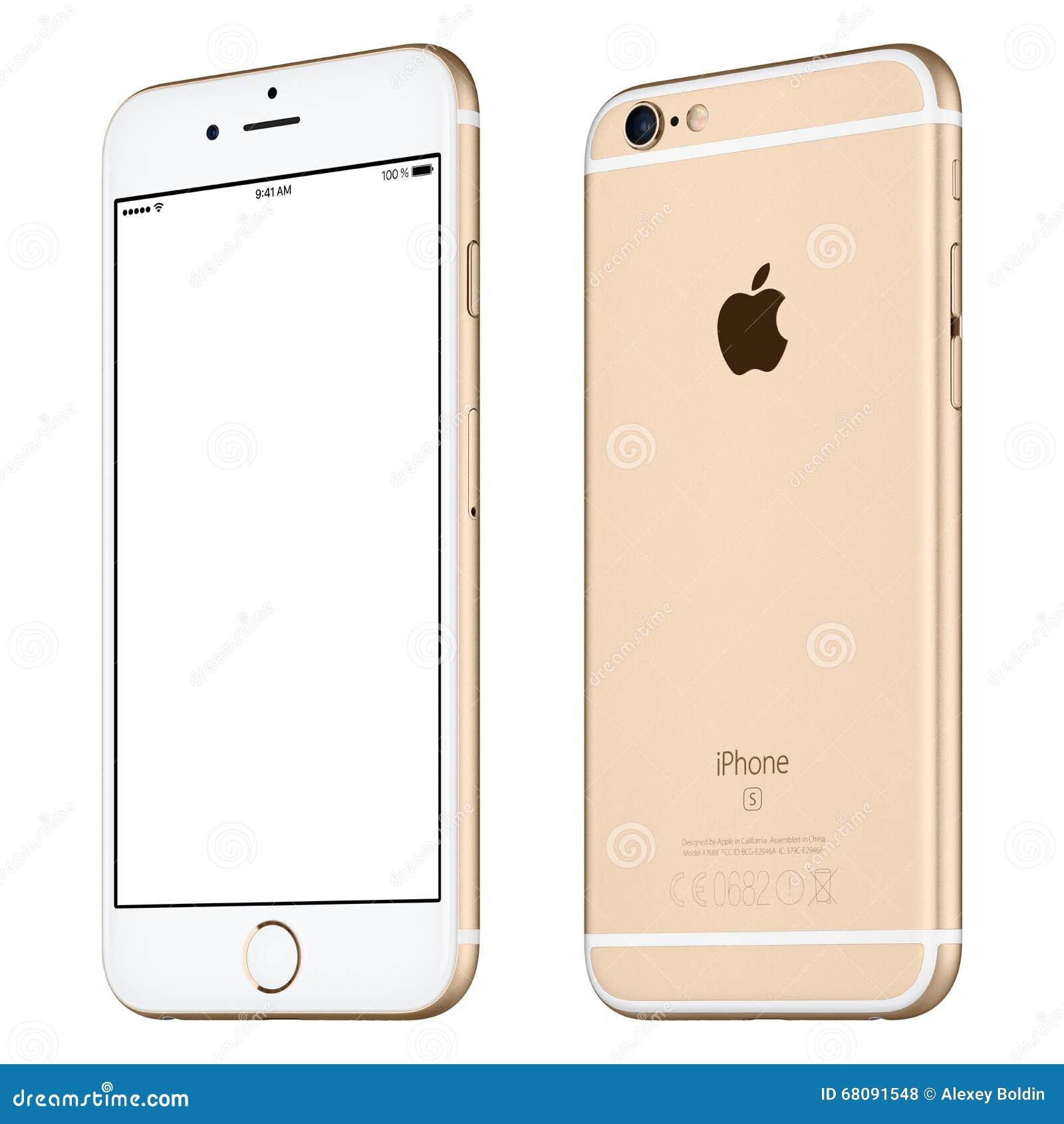 La maquette argentée de l iPhone 6S d Apple a légèrement tourné la vue de face