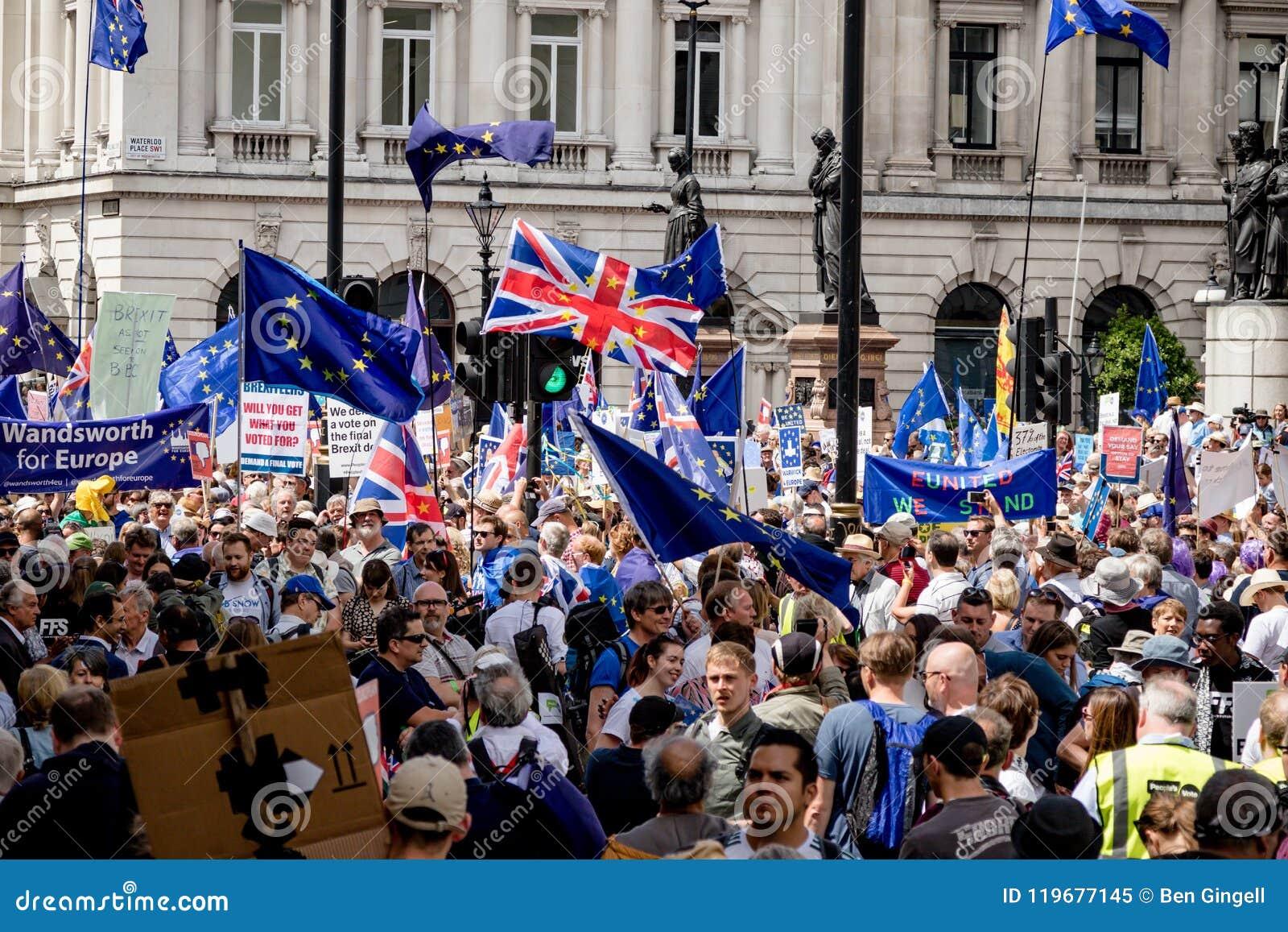 La marche pour un vote du ` s de personnes