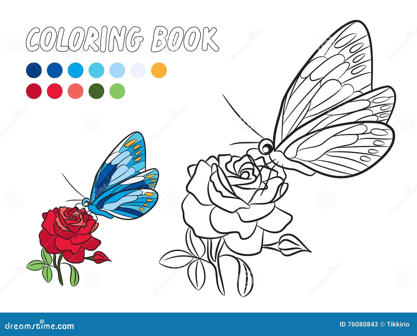 La Mariposa Azul Con El Punto Amarillo Se Va Volando, Página Del ...