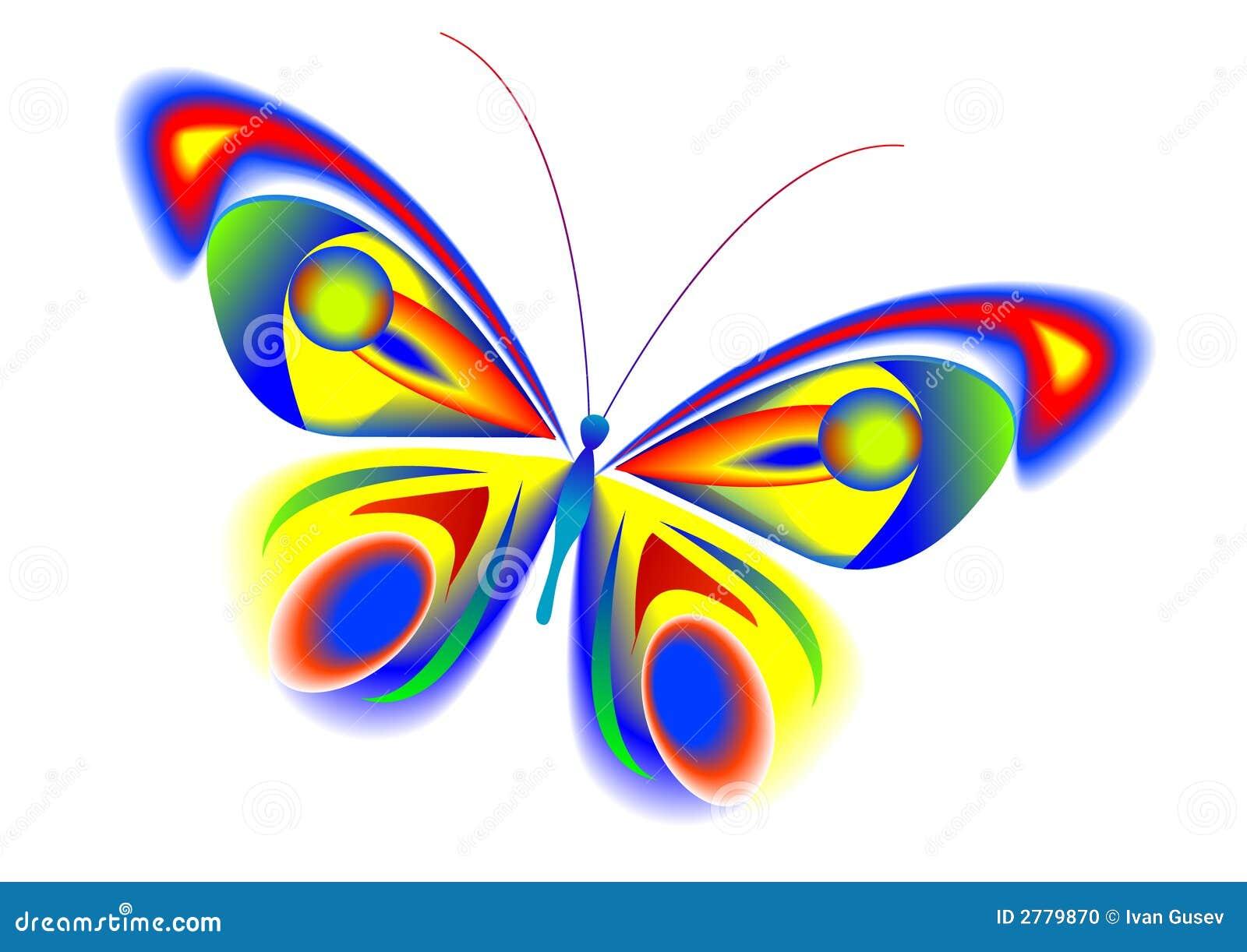 La mariposa multicolora tropical con las alas hermosas.