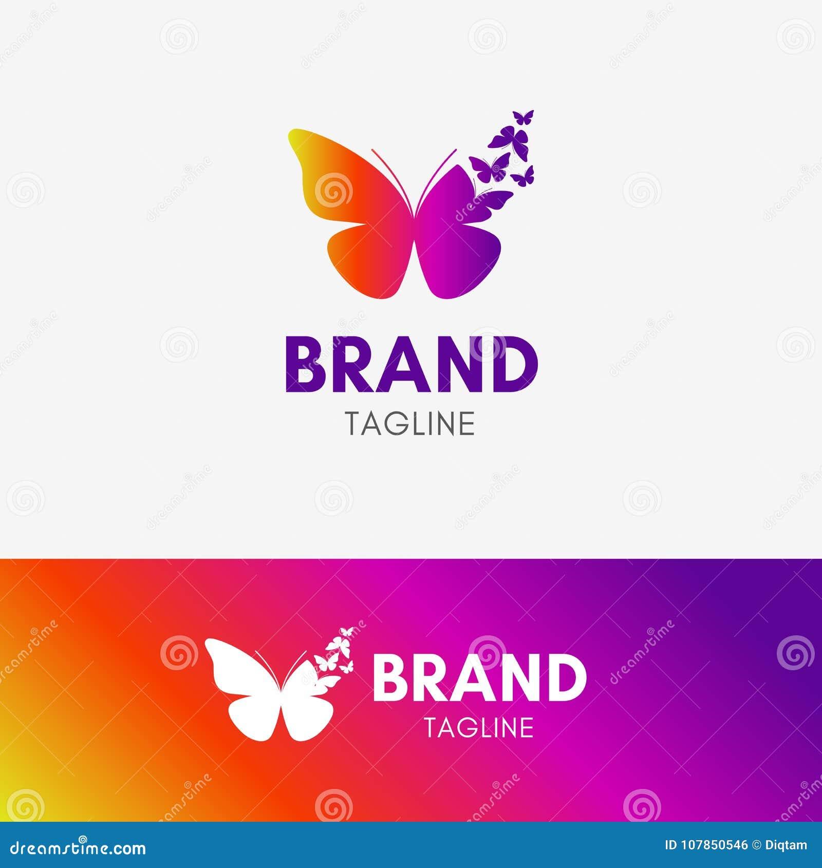 La mariposa Morph el logotipo
