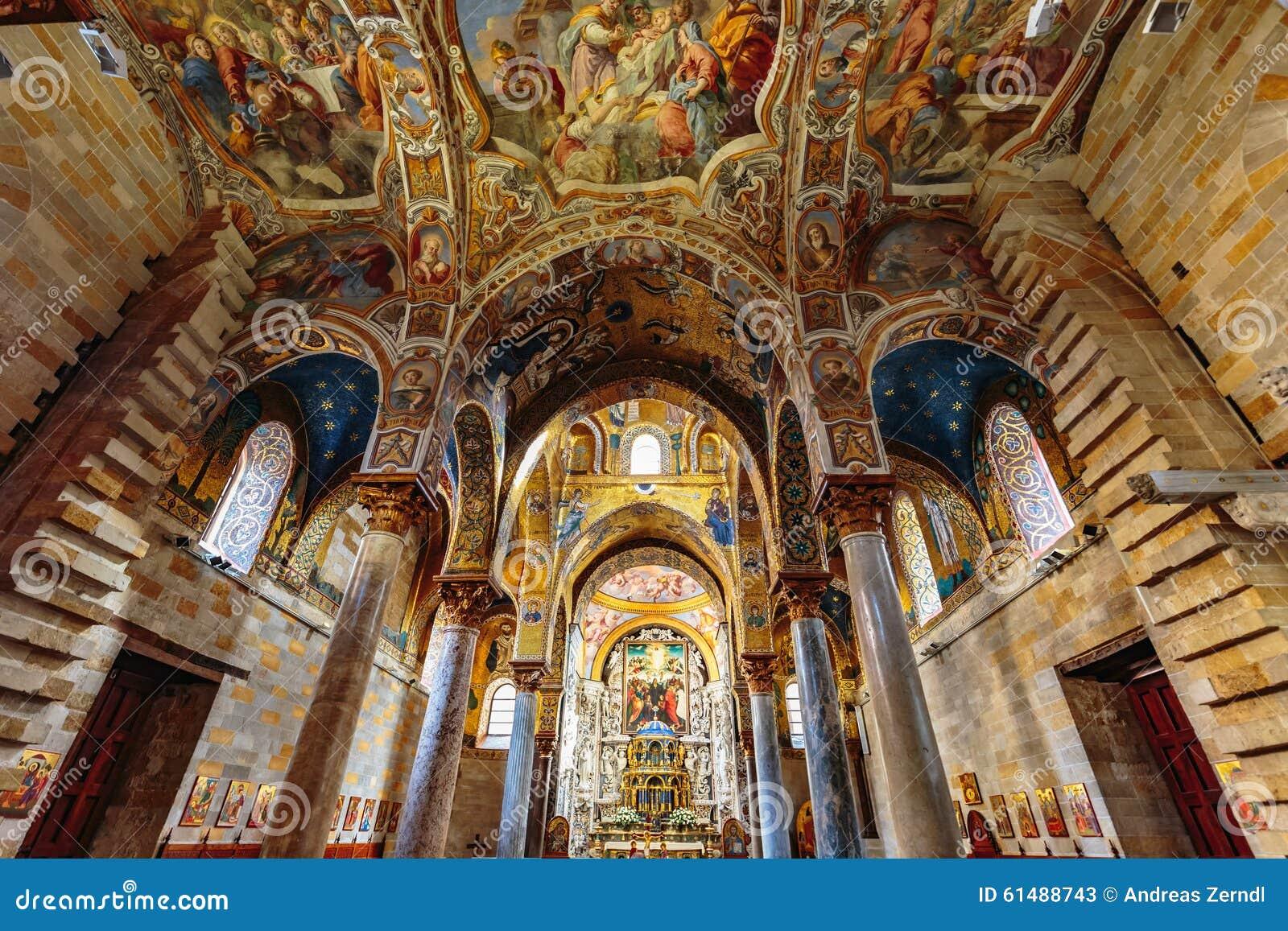 La Martorana Church In Palermo Italy Editorial Stock