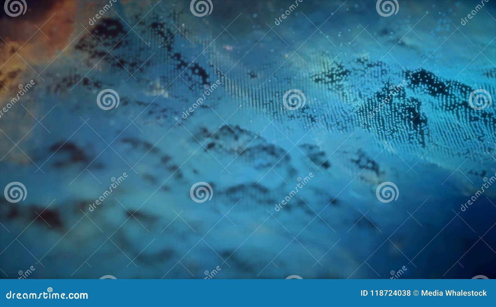 La matrice de points abstraite a fait une boucle dans un modèle de vague Lecture de spectre vibrant doux Animation prête de boucl