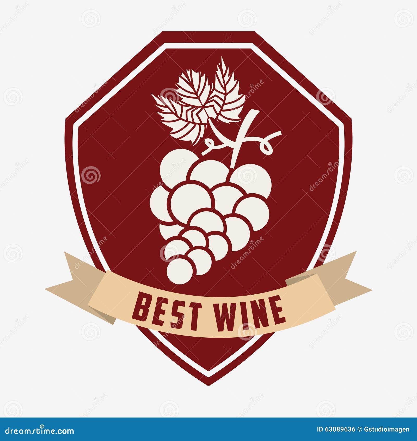 Download La Meilleure Conception De Vin Illustration de Vecteur - Illustration du illustration, bande: 63089636
