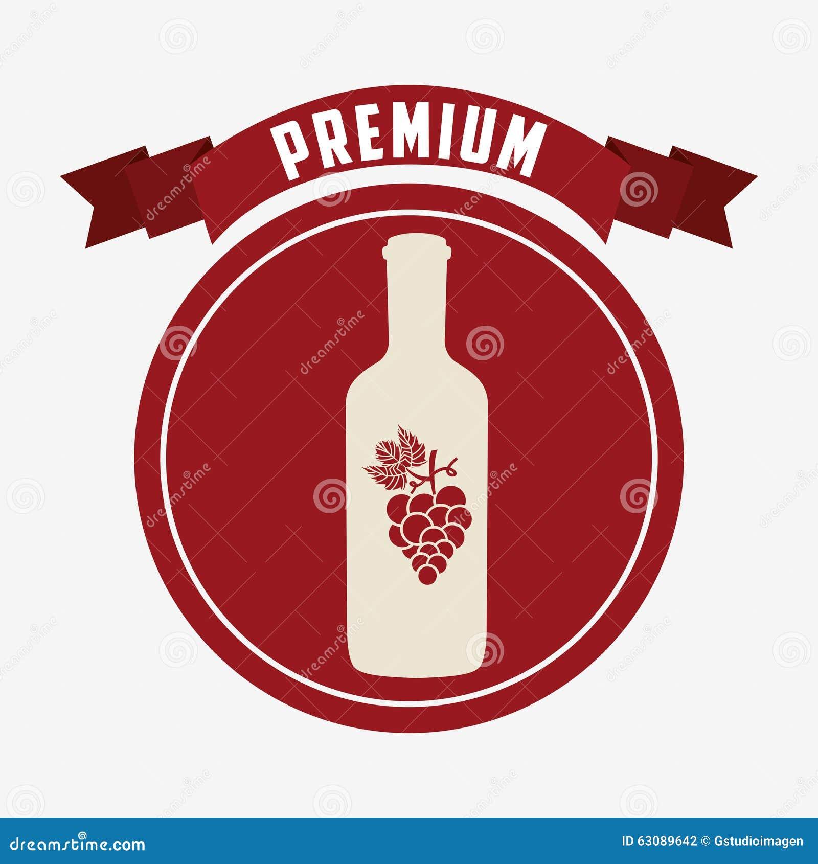 Download La Meilleure Conception De Vin Illustration de Vecteur - Illustration du graphisme, trame: 63089642