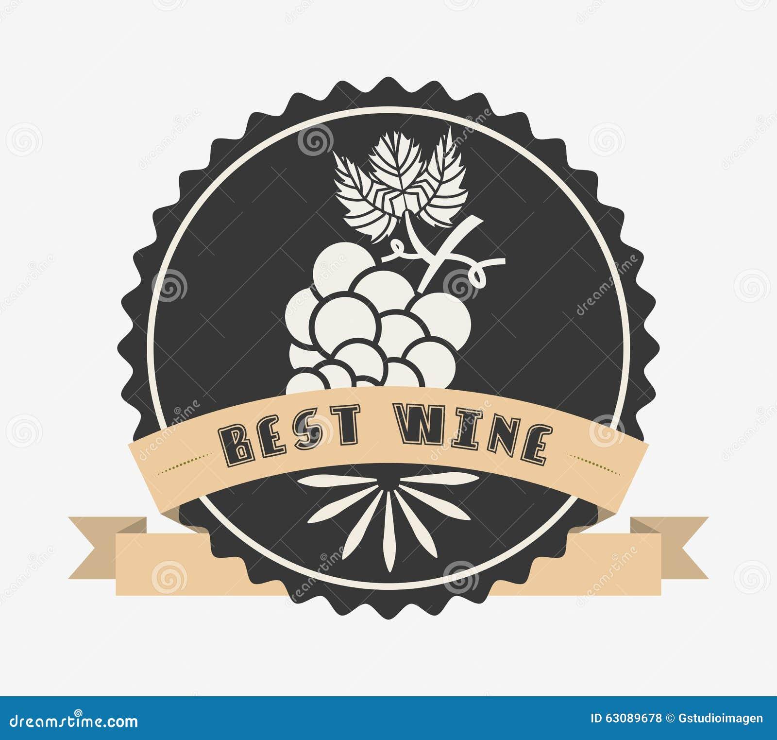 Download La Meilleure Conception De Vin Illustration de Vecteur - Illustration du estampille, étiquette: 63089678