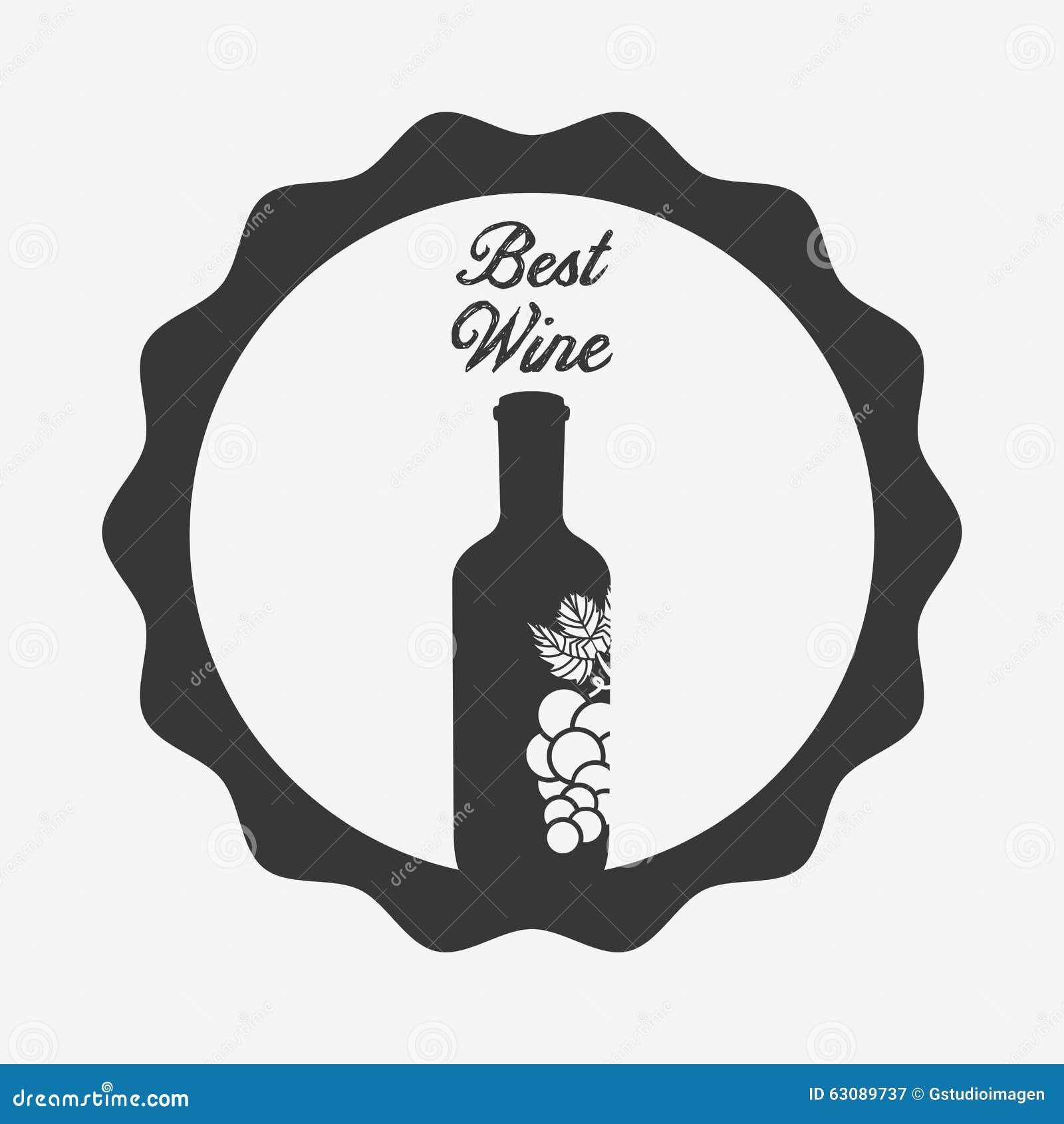 Download La Meilleure Conception De Vin Illustration de Vecteur - Illustration du illustration, maison: 63089737