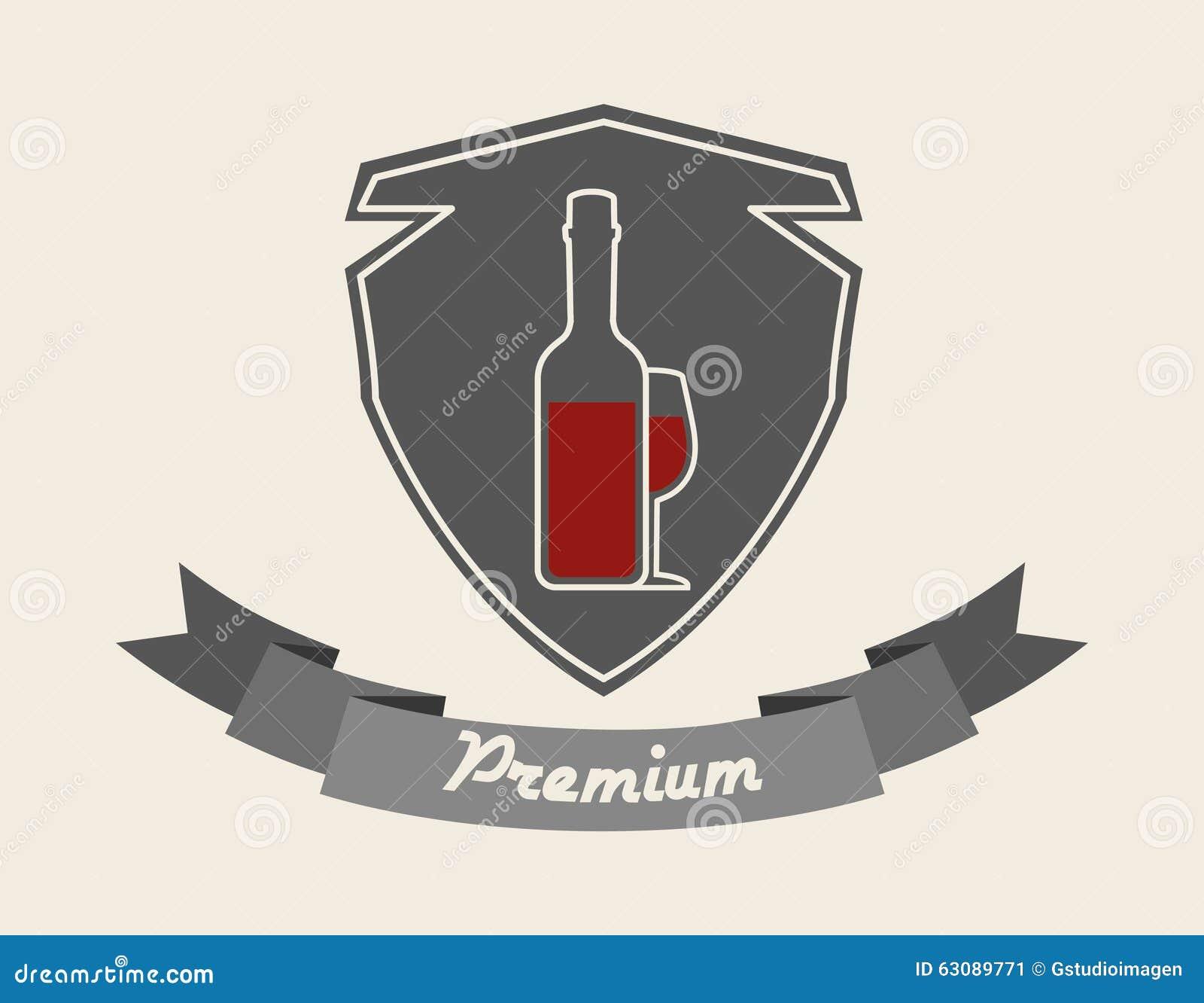 Download La Meilleure Conception De Vin Illustration de Vecteur - Illustration du graphisme, drapeau: 63089771