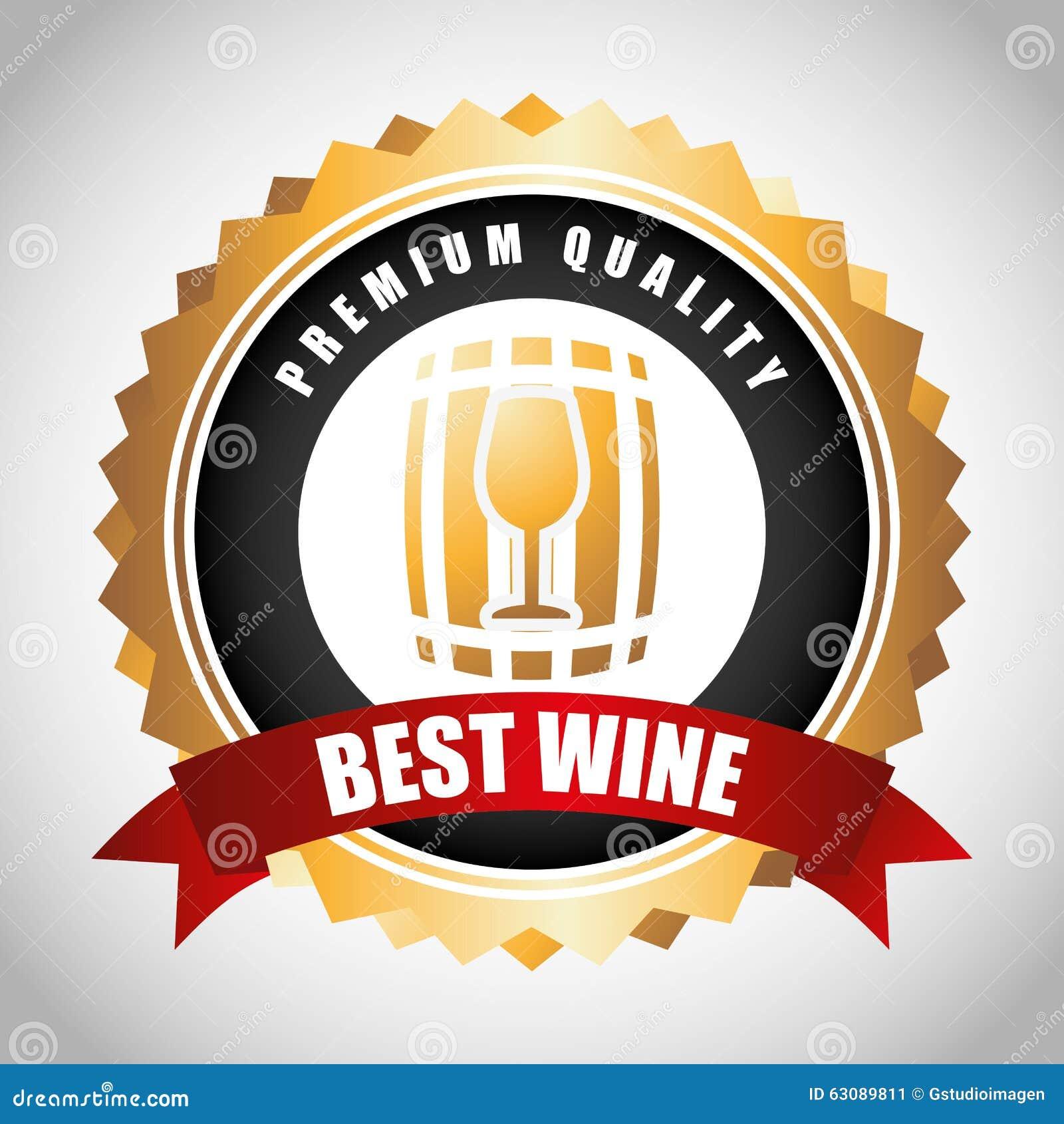 Download La Meilleure Conception De Vin Illustration de Vecteur - Illustration du qualité, système: 63089811
