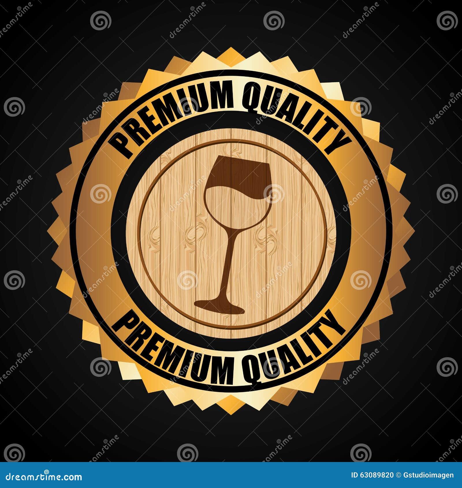 Download La Meilleure Conception De Vin Illustration de Vecteur - Illustration du boisson, estampille: 63089820