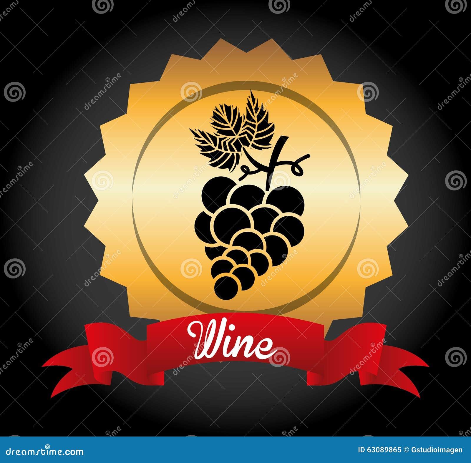 Download La Meilleure Conception De Vin Illustration de Vecteur - Illustration du fleuri, trame: 63089865