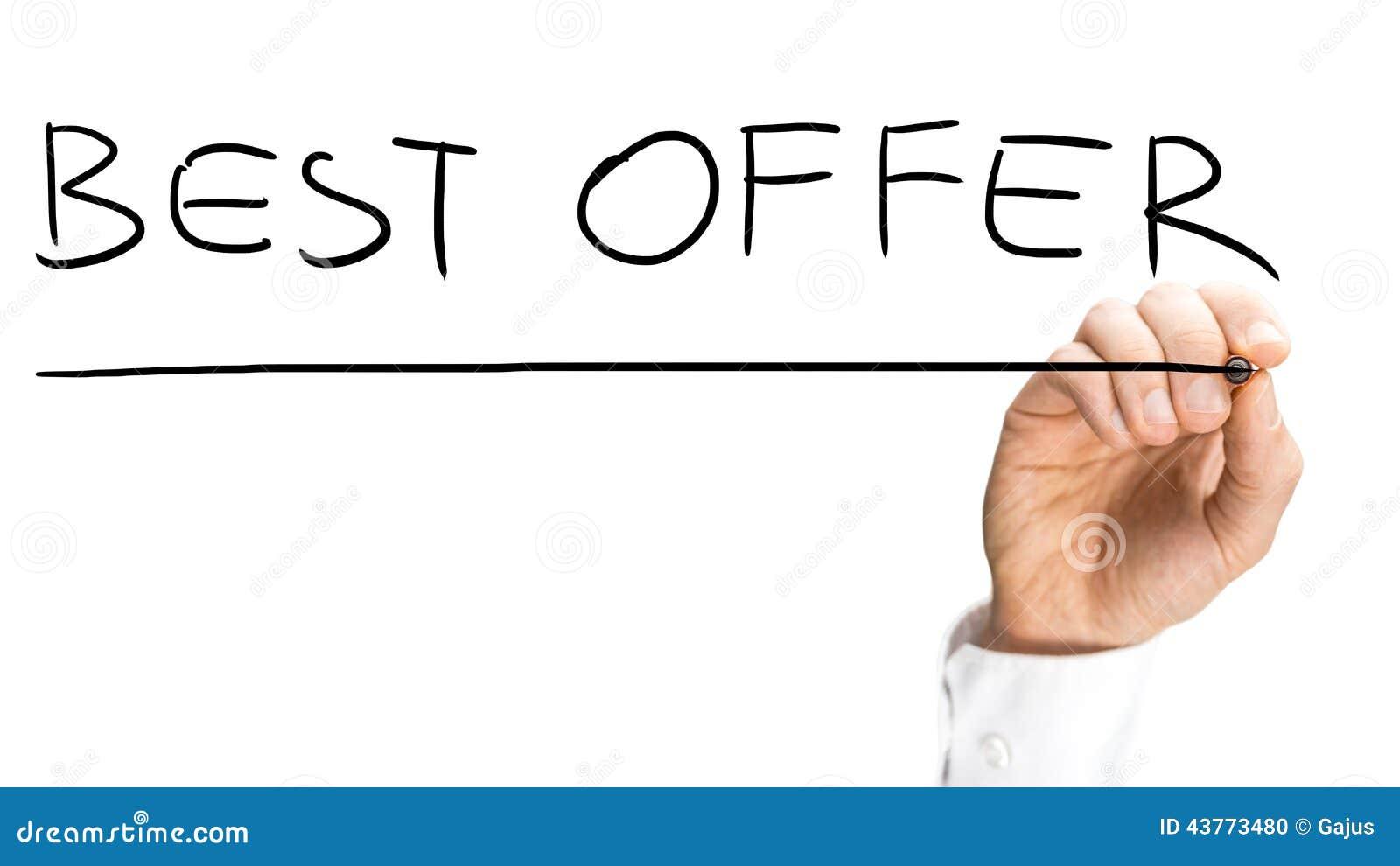 La meilleure offre