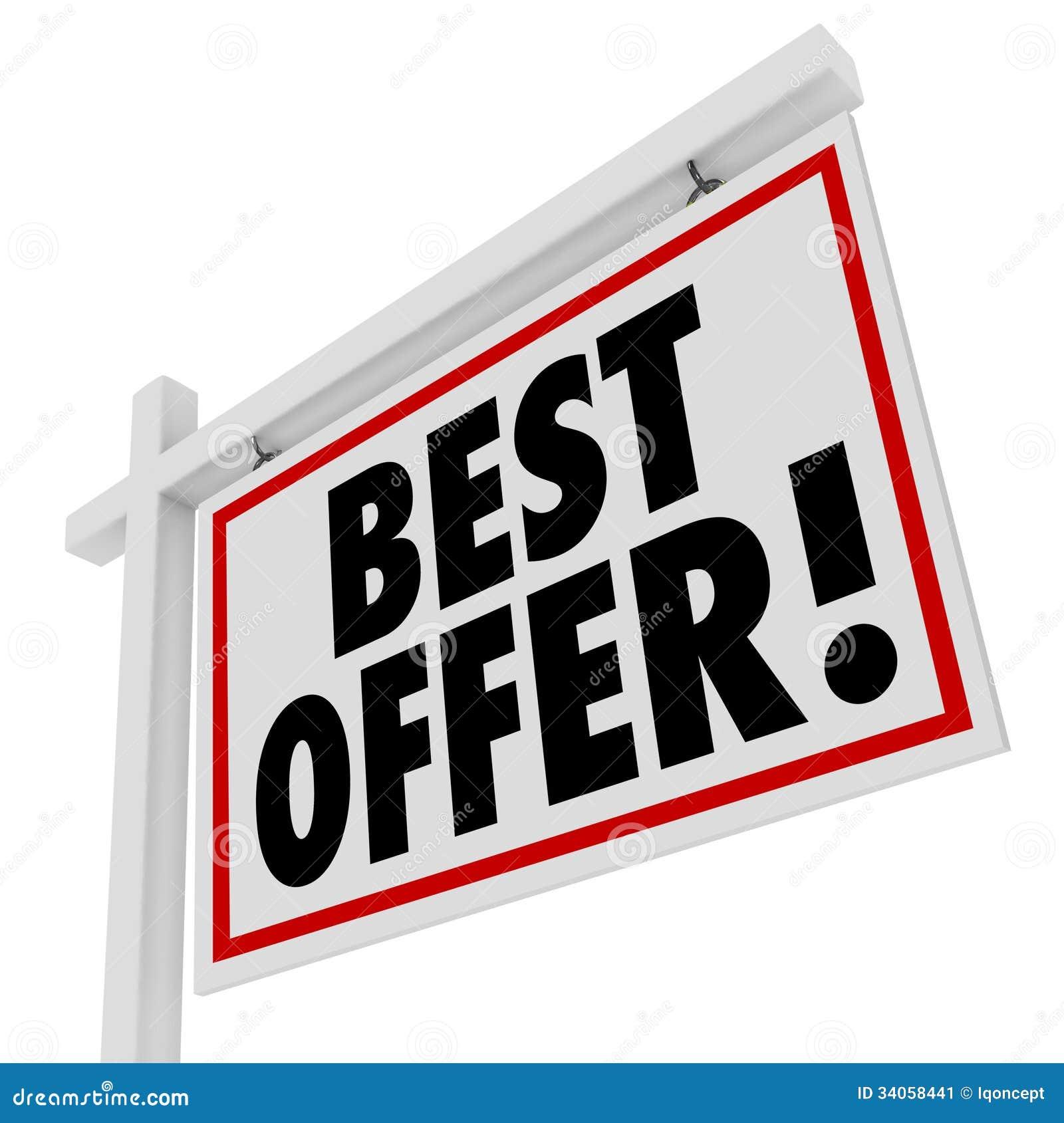 La meilleure offre Real Estate blanc signent à la maison pour l offre de vente
