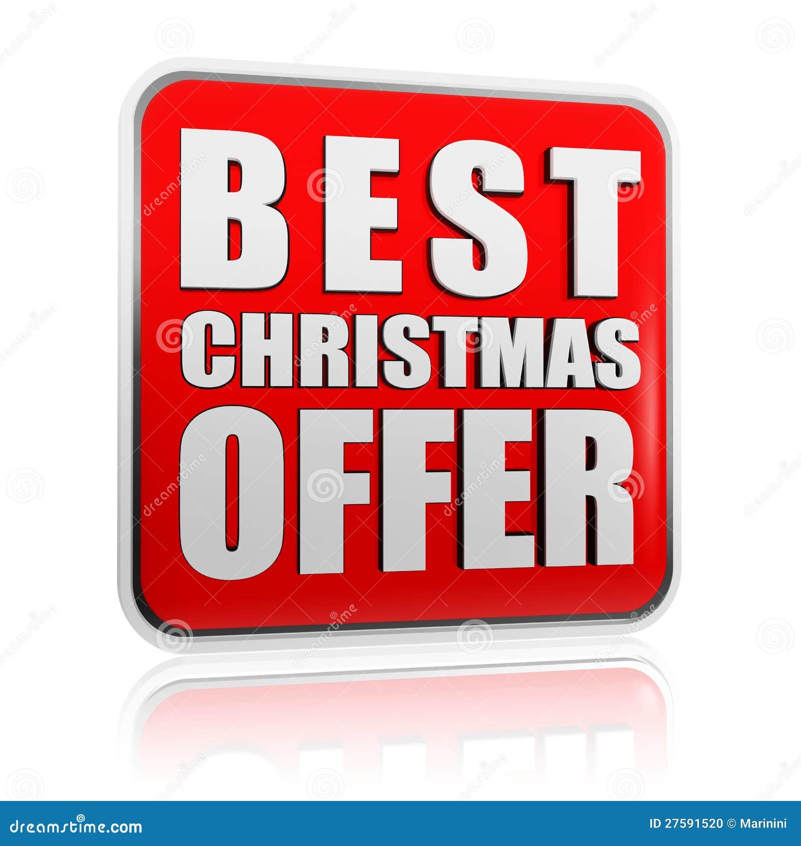 La mejor bandera de la oferta de la Navidad