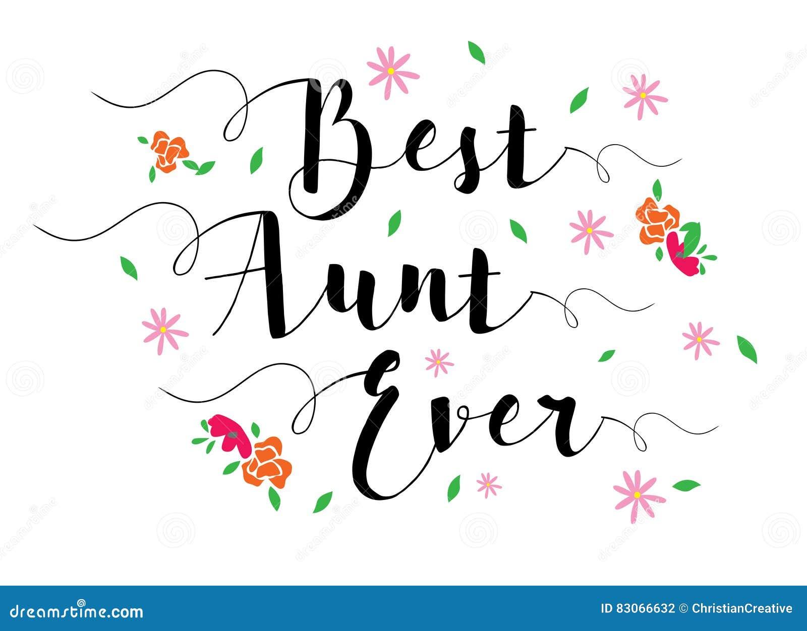 La mejor tía Ever ilustración del vector. Ilustración de aprecio ...