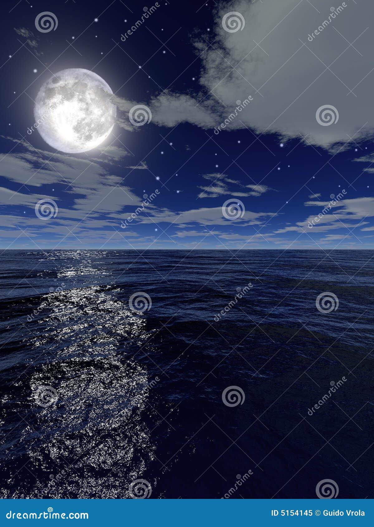 La mer par nuit