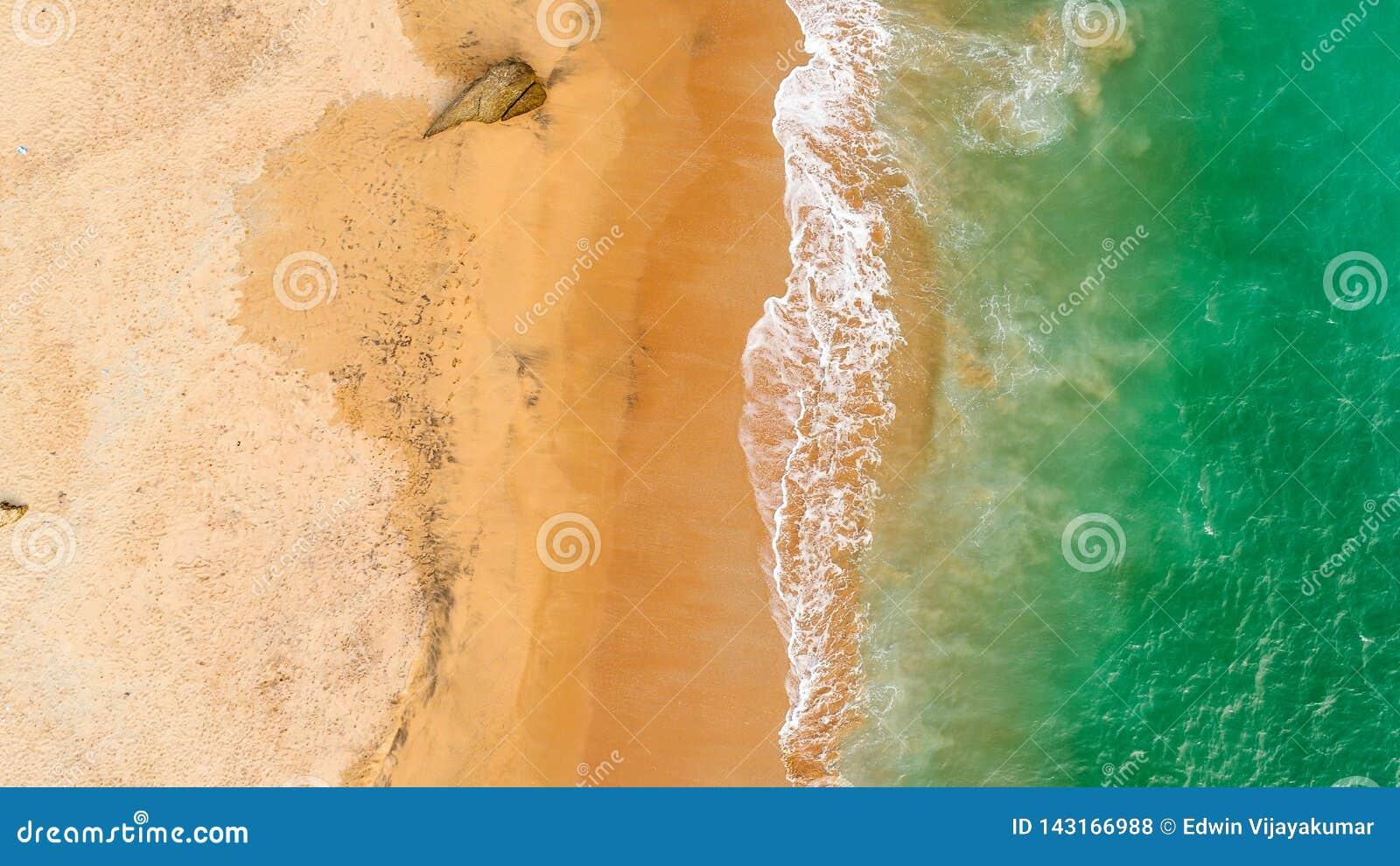 La mer verte ondule la vue d Arial