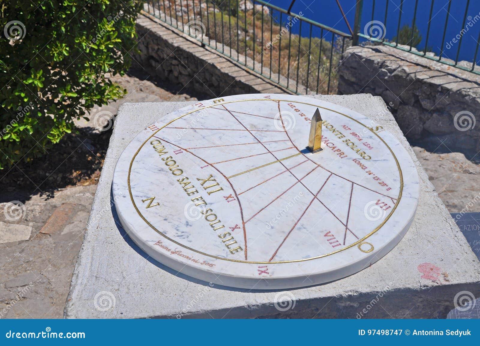 La meridiana antica sull isola di Capri