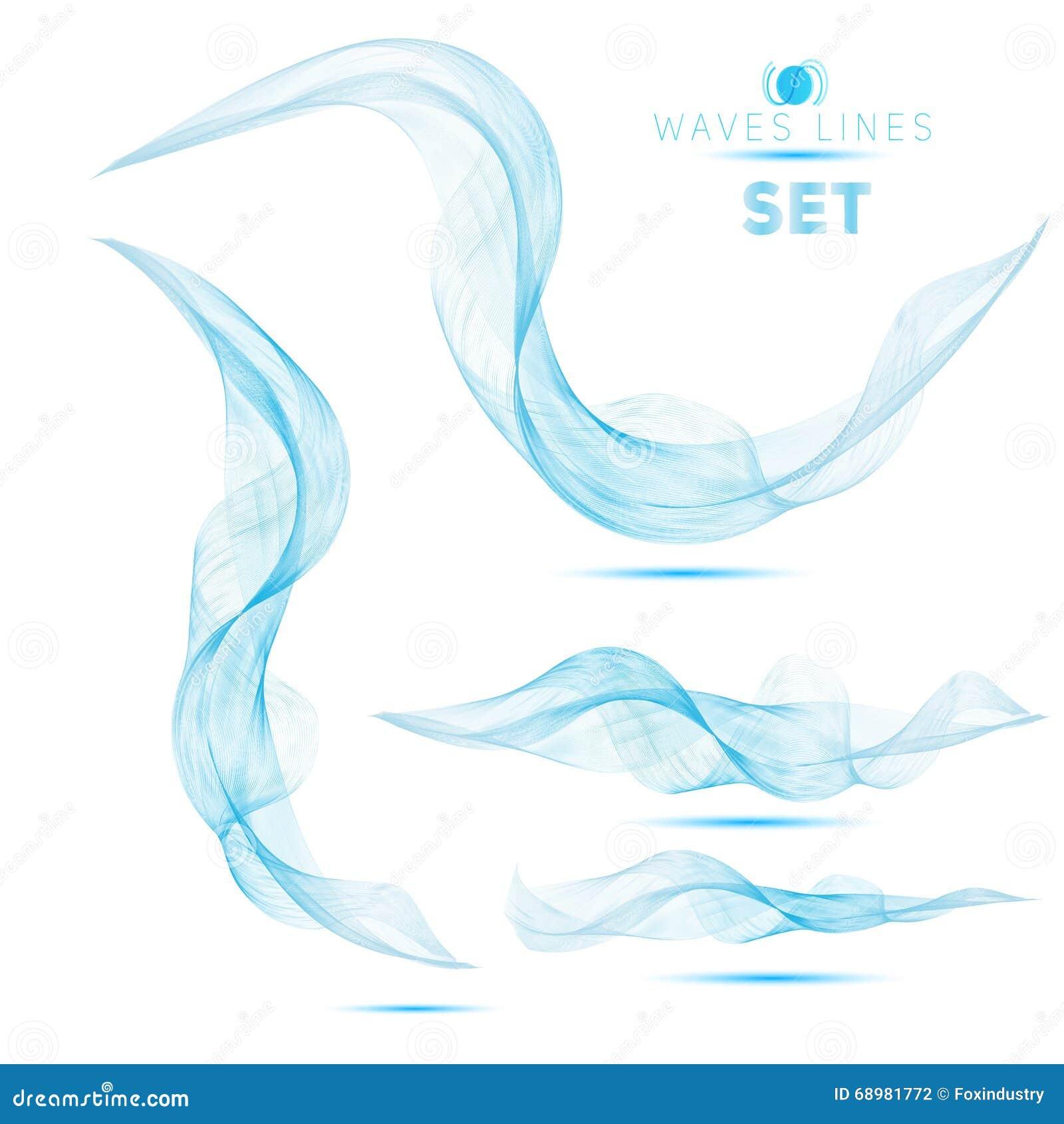 La mezcla masiva azul agita el fondo abstracto para el diseño