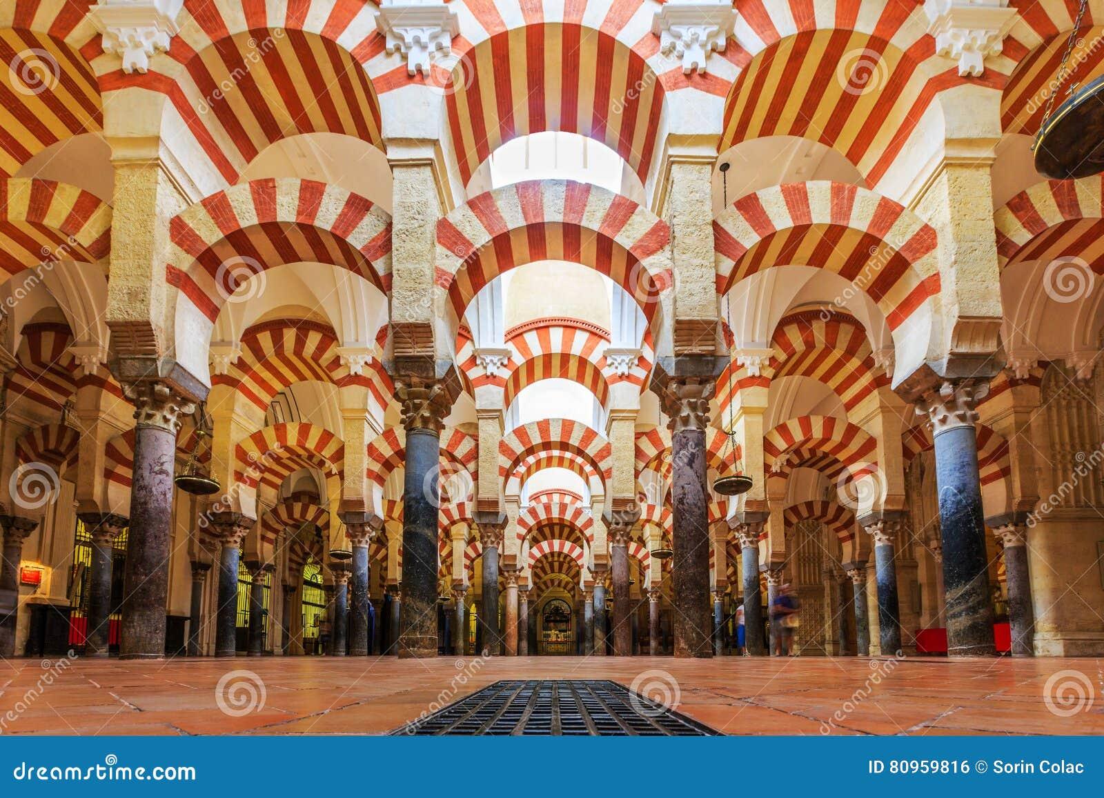 la mezquita cathedral in cordoba spain editorial photo image of