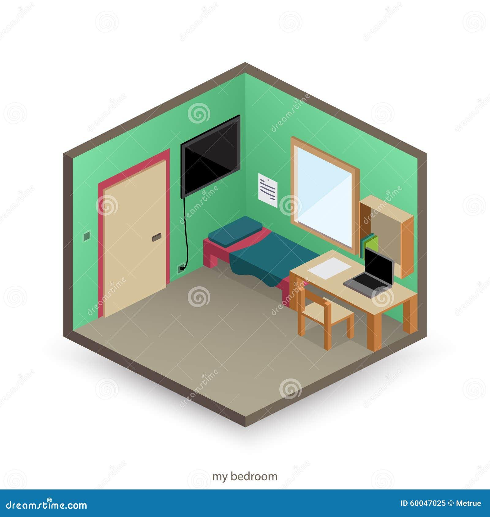 la mia camera da letto illustrazione vettoriale - immagine: 60047025 - La Mia Camera Da Letto