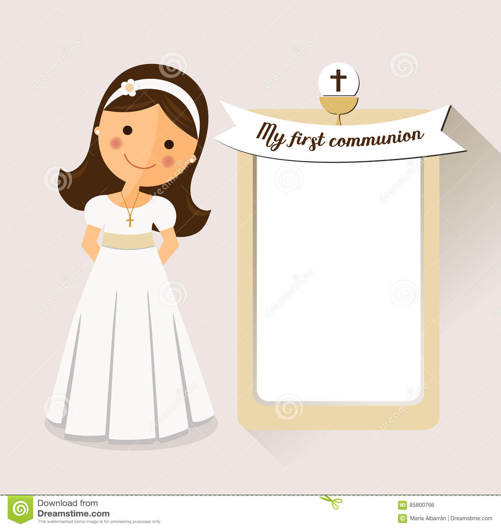 La Mia Prima Comunione Dellinvito Di Comunione Con Il Messaggio