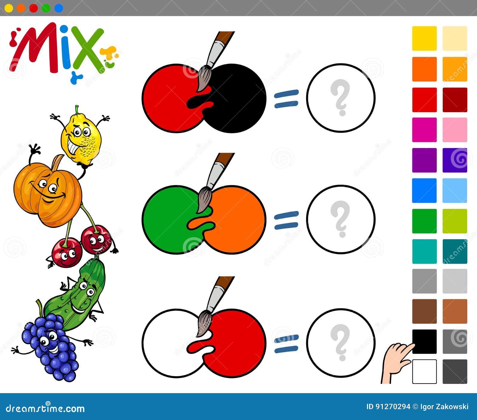 La miscela colora il gioco per i bambini