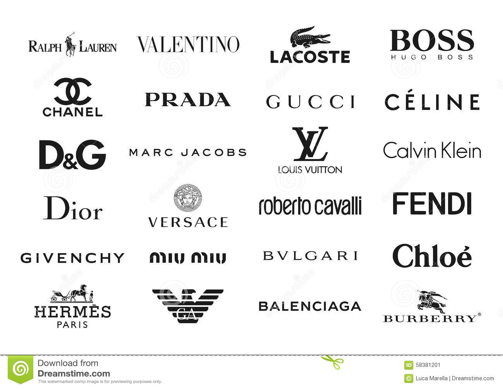 La moda califica logotipos