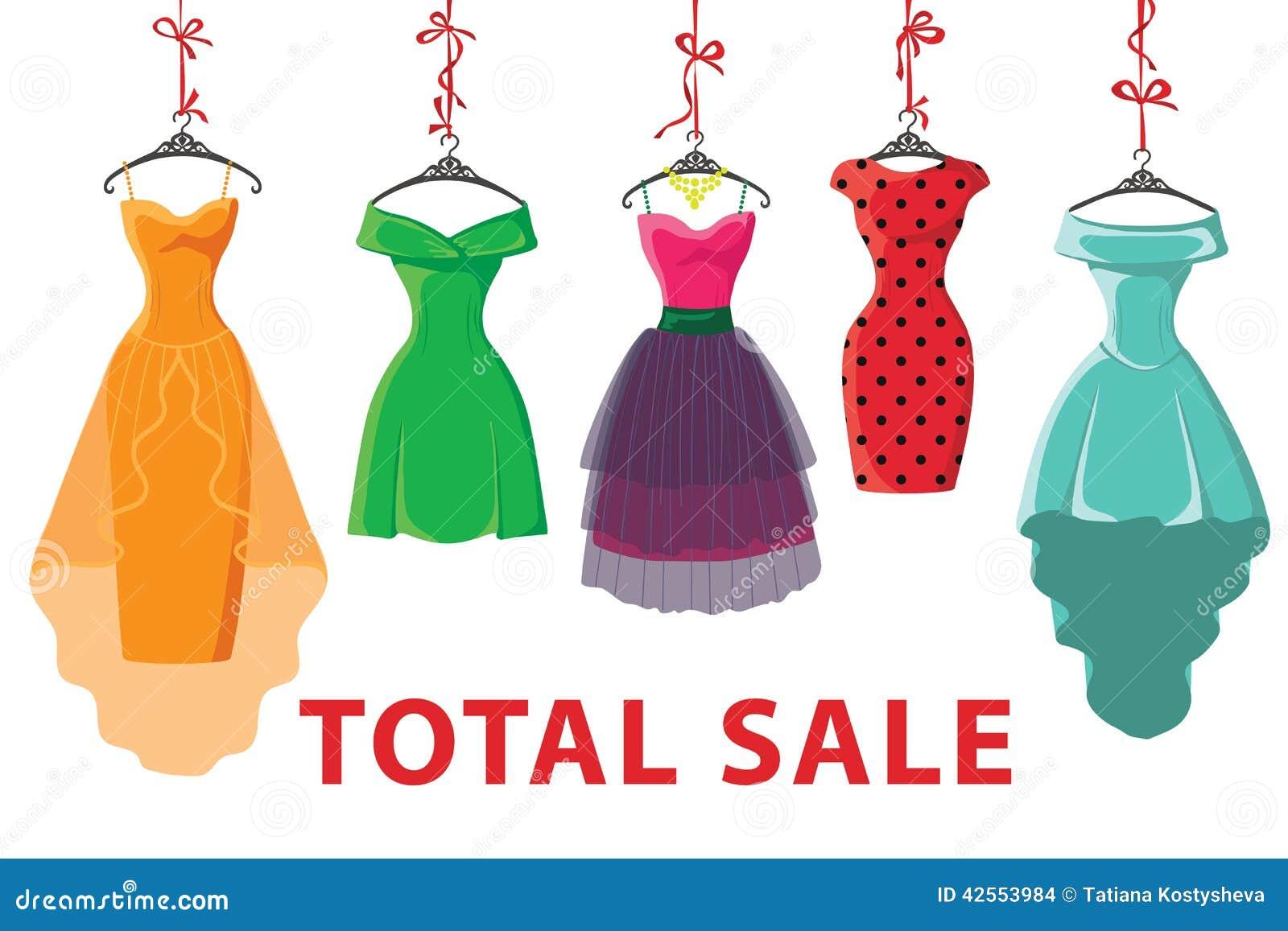 La Moda Colorida Coloreó Caída De Los Vestidos En Cinta